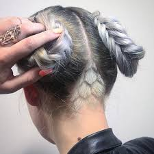 Hair Designs By Tim Pastel Hair Undercut Grey Hair In 2019 Undercut Hair