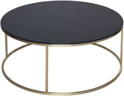 kensal circular modern coffee table black glass image 3