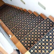 braided rug stair treads add safety to your staircase today stars rubber stair treads with indoor braided rug stair treads