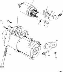 mercruiser 3 0l gm 181 i l4 starter motor parts engine section