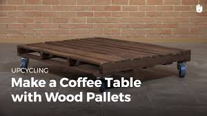 diy pallet furniture coffee table with wheels upcycling