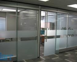 office sliding door. frameless glass sliding door office l