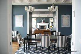 blue grey dining rooms. Blue Grey Walls And Moroccan Trellis Rug In From Rugs USA. Cannot Wait To Transform The Dining Room Into Something Similar! Rooms H