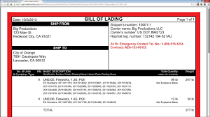 bill of lading software free bill of lading for hazardous materials youtube
