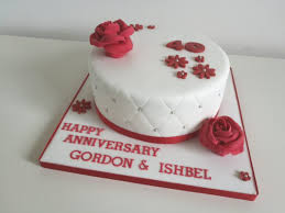 Ruby Wedding Anniversary Cakes By Siobhan Cakes By Siobhan