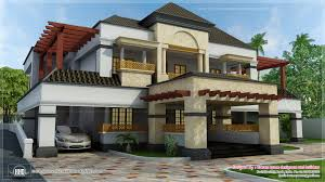 fusion mix arabic style home kerala design floor plans