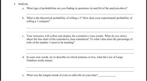 Probability Analysis Chart Analysis A What Type Of Probabilities Are You F Chegg Com