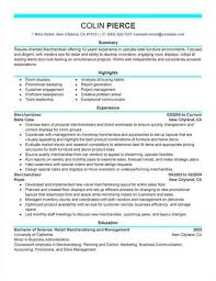 Sample Retail Merchandiser Resume
