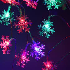Frozen String Lights Us 6 88 20 Led Battery White Snowflake String Lights New Year Christmas Decoration Mini Rope Lighting Frozen Garden Outdoor Decorations In Led