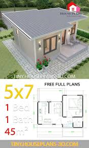 plans 5x7 with one bedroom shed roof