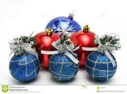 Set of celebratory christmas-tree decorations of blue color