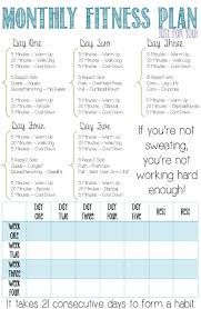 A Fitness Plan Monthly Fitness Plan For Beginners This Is A Four Week Fitness Plan