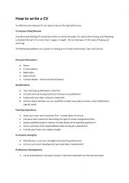 How To Write Resume Cv How To Write A Good Cv Example College Writing Up A