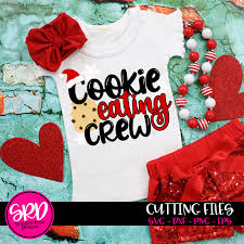 These free christmas svg files are perfect for holiday crafts, decor, and gifts. Cookie Eating Crew Christmas Svg Scarlett Rose Designs