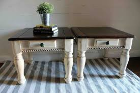 two tone painted furniture. Two Tone Painted Side Tables, Furniture