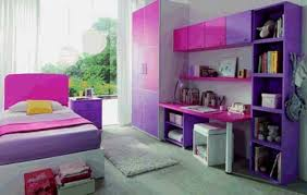 Purple Bedroom Decor Single Bed On Platform Drawers Furnished Purple Bedroom Decor