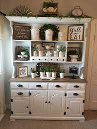 My wife and i also liked the idea of a coffee bar holding all of our coffee things separate from the kitchen. People Are Upcycling Old Kitchen Hutches Into Cozy Coffee Bars