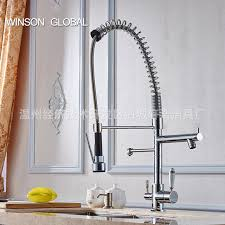 water tap kitchen faucet spring pull out stainless steel faucet