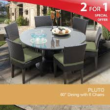 outdoor round dining table. Cilantro Pluto 60 Inch Outdoor Patio Dining Table With 6 Chairs - Design Furnishings Round