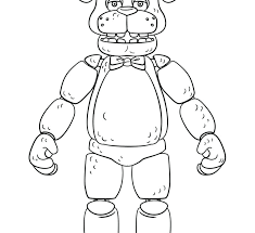Fnaf Coloring Pages Bonnie Five Nights At Coloring Pages Admirably
