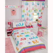 patchwork elephant stars matching bedding sets curtains wallpaper border girls