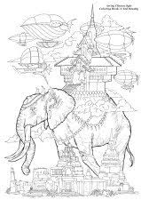 Small Picture Free coloring page coloring adult oriental elephants Oriental