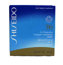 rakuten home skin perfect cosmetics shiseido uv protective pact foundation refill fair ivory 42 ounce 0