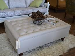 sensational furniture round tufted ottoman coffee table leather material premium high quality stunning interior ideas