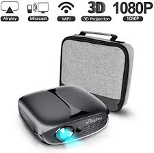 <b>Mini</b> Projector, ELEPHAS WiFi DLP <b>HD</b> Portable Pico 3D Video ...