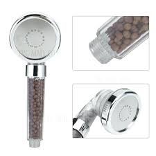 shower heads clear shower head sprinkler negative ions anion hand held spa nozzle clr clean
