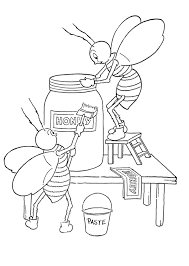 Coloring pages are fun for children of all ages and are a great educational tool that helps children develop fine motor skills, creativity and color recognition! Kids Printable Honey Bees Coloring Page The Graphics Fairy