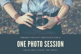 Photography Gift Certificate Template Free Customize Templates
