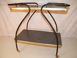 Vintage Metal Kitchen Cart Vintage Mid Century 1950s 2 Tier Kitchen Utility Rolling Serving