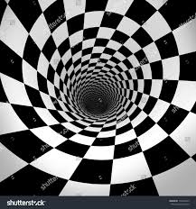 black and white spiral 3d