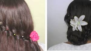 Indian Hair Style party hairstyle waterfall braid and bun with braid video 4199 by wearticles.com