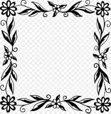 flower black and white picture frames flower frame png 2249 2288 free transpa flower png