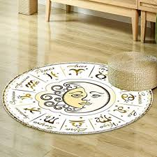 Living Room Rug Placement Classy Amazon Mikihome Round Area Rug Zodiac Decor Circular Zodiac