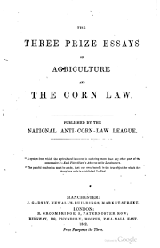 the three prize essays on agriculture and the corn law online  nacll threeessays1658 tp
