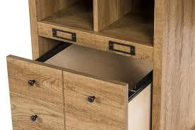 scribed oak effect home. Vintage Desk With Storage | Home Office Study Computer Desks Retro Oak Finish Scribed Effect 2