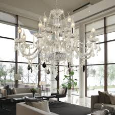modern bedroom chandelier large 12 bulbs european candle crystal chandeliers ceiling bedroom living room modern e14 retail and whole ideas