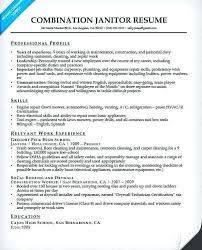 Sample Resume For Janitor Impactful Professional Maintenance