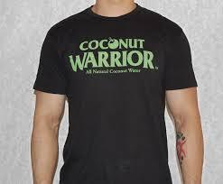 Mens Black Coconut Warrior T Shirts