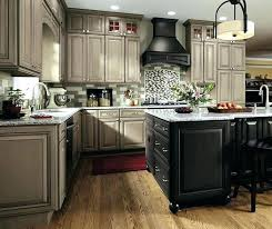 grey kitchen cabinets gray by cabinetry high gloss with black appliances stainless a