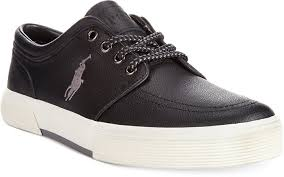 polo ralph lauren faxon low leather sneakers