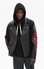 gallery embroidered fl moto jacket