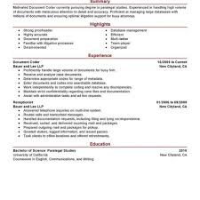 Medical Coder Resume Example Examples Of Resumes