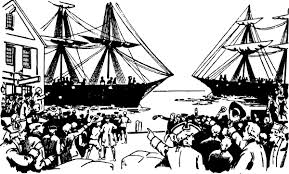 Small Picture Clipart boston tea party collection