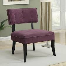 purple accent furniture. Purple Accent Chair W/ Button-Tufted Back Furniture N