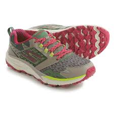 skechers running shoes. skechers gotrail trail running shoes (for women) in taupe/pink