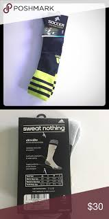 Adidas Climalite Soccer Sports Socks Neon Green Tops With
